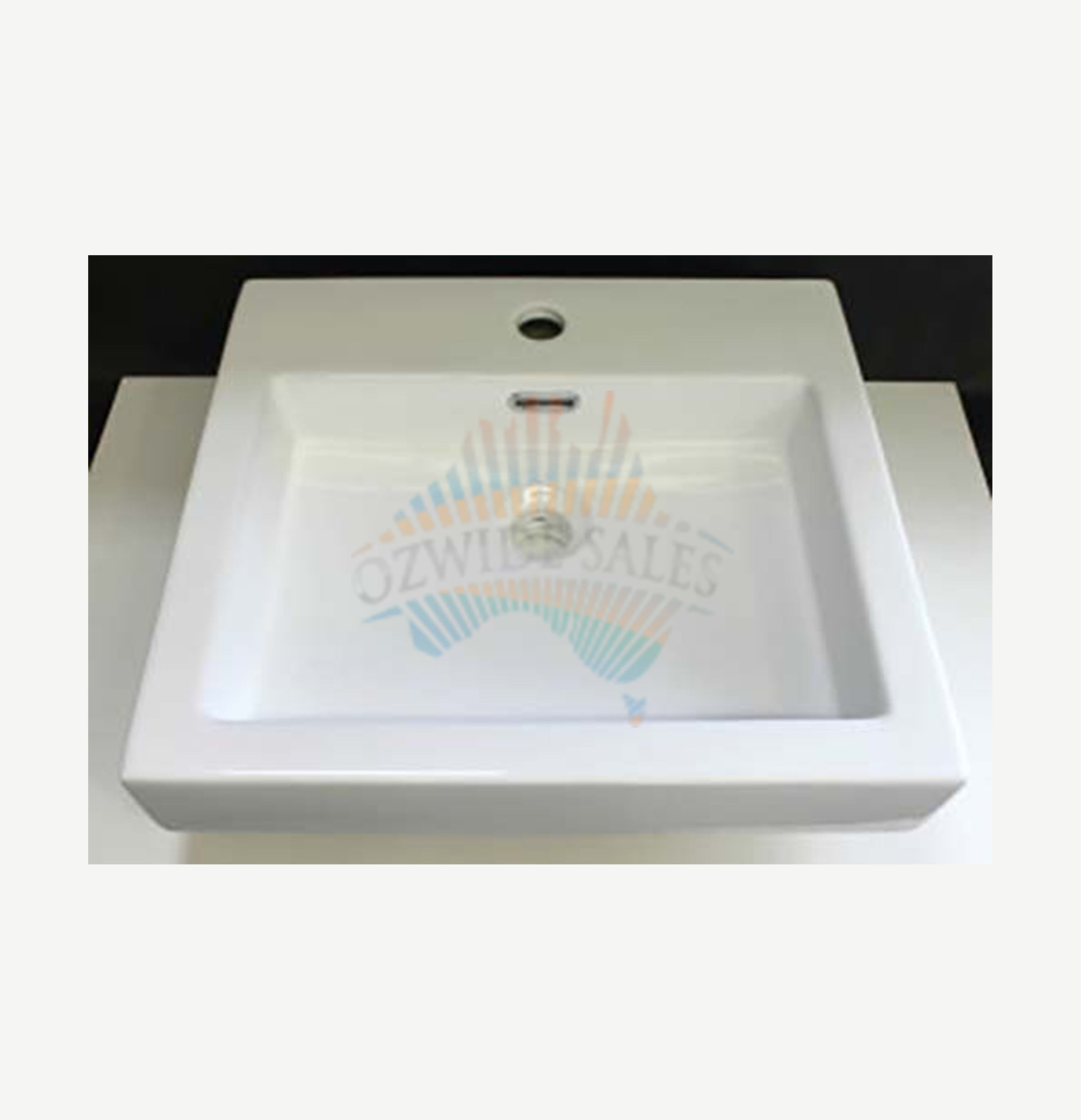 Wide Shallow Bathroom Vanity ... Ceramic Basin Above Counter Top White New Modern Shallow Design | eBay