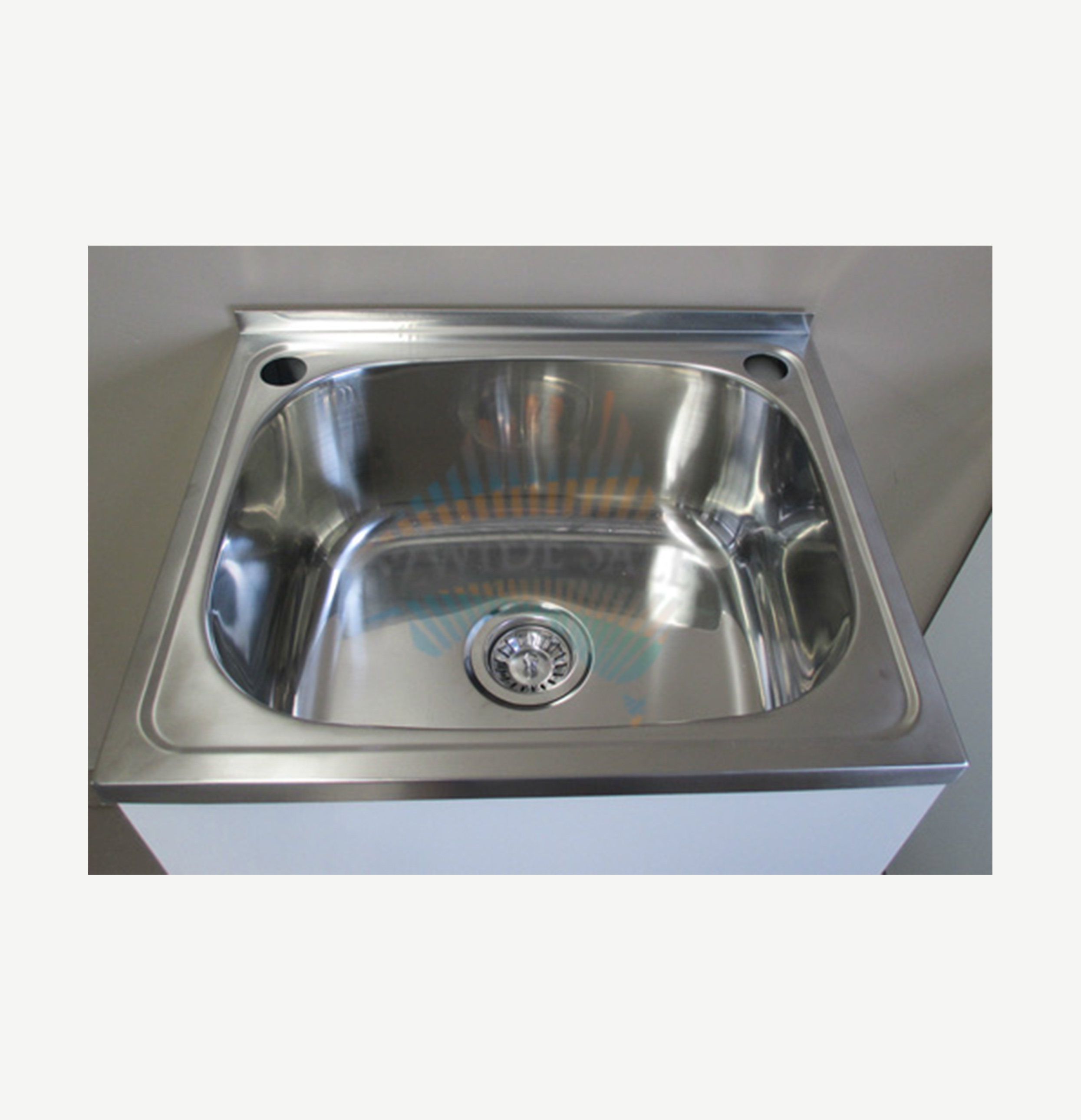 Stainless Steel Laundry Trough : Laundry Tub 35L Stainless Steel Sink Cabinet Trough Adjustable Waste ...