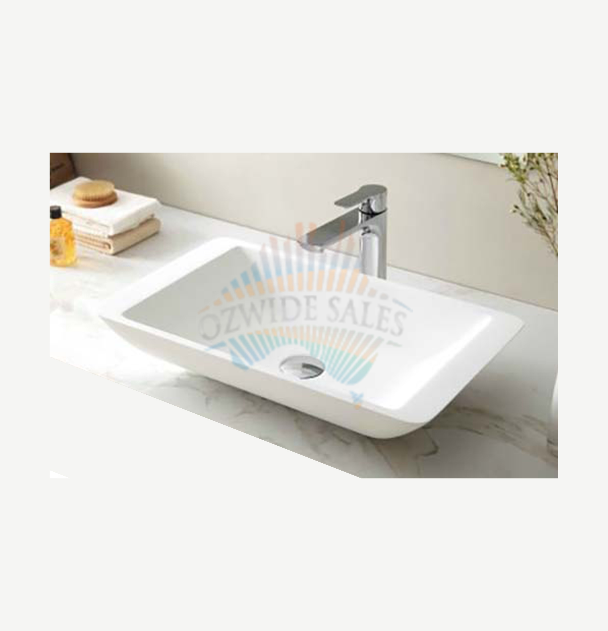 Shallow Laundry Sink : Details about Stone Marble Square Basin Shallow Design Gloss Finish ...