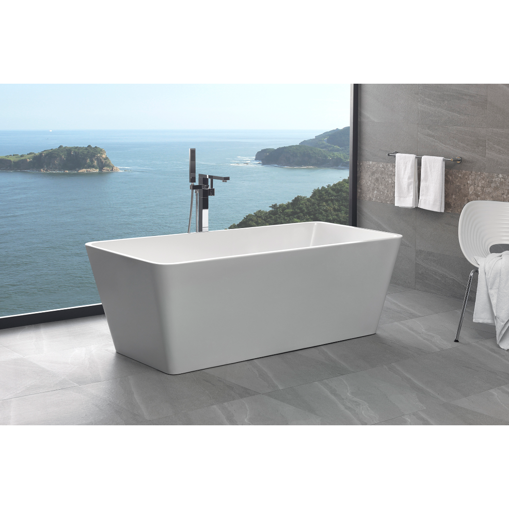 Square Tub Freestanding Bathroom Bath Tub Square Thin Edge 1500 Free Standing