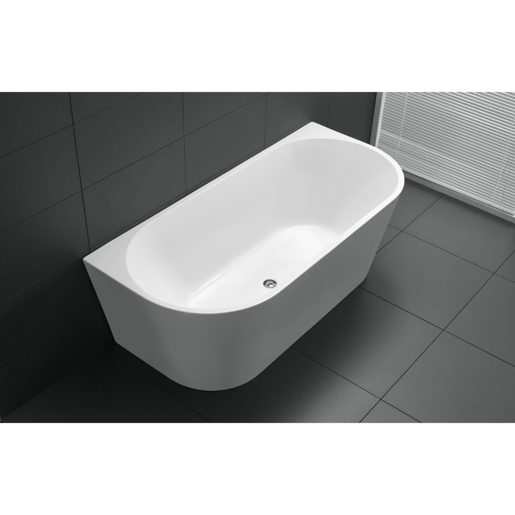 Freestanding Bathroom Acrylic Bath Tub Back To Wall 1500 Free Standing Bathtu
