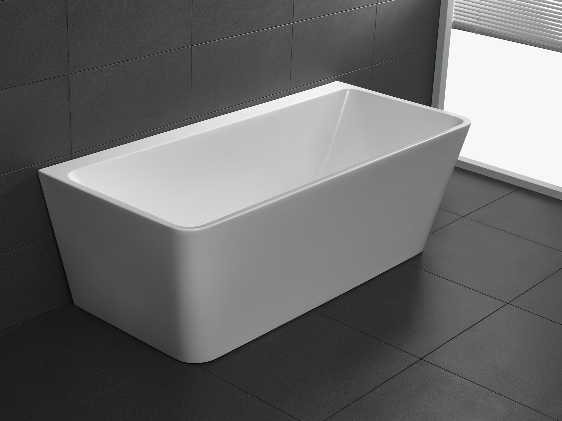 Freestanding Bathroom Bath Tub Back to Wall 1700 mm Free Standing ...