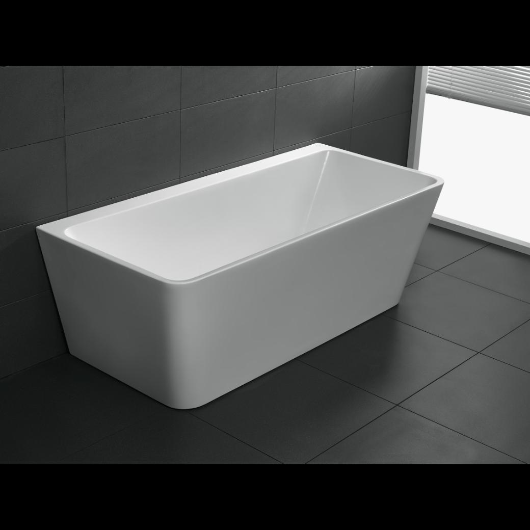 Freestanding Bathroom Bath Tub Back to Wall 1500 mm Free Standing ...